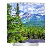 Cascade Mountain Shower Curtain