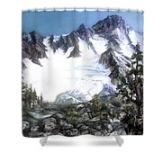 Cascade Splendor  Mount Fury Shower Curtain