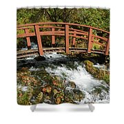 Cascade Springs With Bridge Shower Curtain