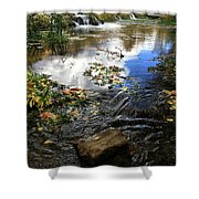 Cascade Springs With Rock Shower Curtain