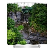 Cascadilla Gorge Cornell University Ithaca New York 01 Shower Curtain