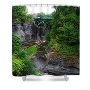 Cascadilla Gorge Cornell University Ithaca New York 02 Shower Curtain