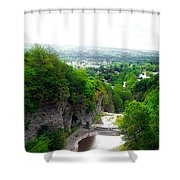Cascadilla Gorge Cornell University Ithaca New York Panorama Shower Curtain