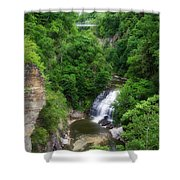 Cascadilla Waterfalls Cornell University Ithaca New York 01 Shower Curtain