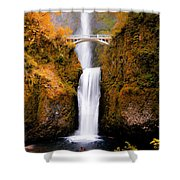Cascading Gold Waterfall II Shower Curtain