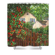 Cascading Roses Shower Curtain