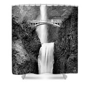 Cascading Waterfall Bw Shower Curtain
