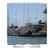 Cascais, Portugal, From Conceicao Beach Shower Curtain