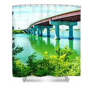 Casco Bay Bridge Shower Curtain