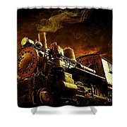 Casey Jones And The Cannonball Express Shower Curtain