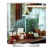 Cash Register In General Store Shower Curtain