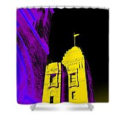 Casino Building In Yellow Shower Curtain