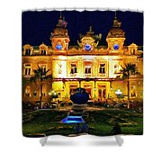 Casino Monte Carlo Shower Curtain by Jeff Kolker