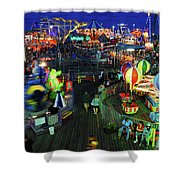 Casino Pier At Seaside Heights Shower Curtain