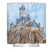Castle On The River Rhine Shower Curtain