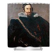 Caspar De Guzman Count Of Olivares Diego Rodriguez De Silva Y Velazquez Shower Curtain