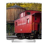 Cass Railroad Caboose Shower Curtain