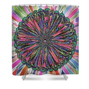 Cassandra -- Floral Disk Shower Curtain