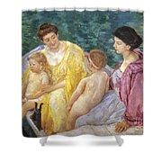 Cassatt: The Swim, 1910 Shower Curtain