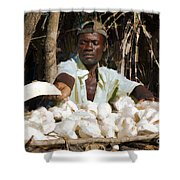 Cassava Root Shower Curtain