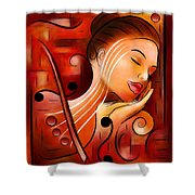 Casselopia - Violin Dream Shower Curtain