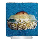 Cassiopeia Jellyfish Abstract Shower Curtain
