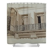 Cast Iron Balcony Rail Shower Curtain