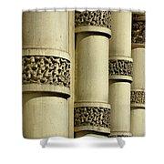 Cast Iron Columns Shower Curtain