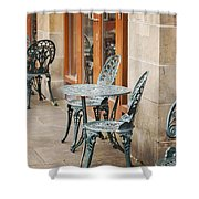 Cast Iron Garden Furniture Shower Curtain