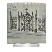 Cast Iron Gate And Fence Shower Curtain