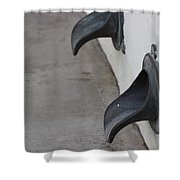 Cast Iron Rain Spouts In Stucco Building Photograph By Colleen Shower Curtain