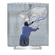 Cast Net Shower Curtain