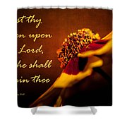 Cast Thy Burden Upon The Lord Shower Curtain