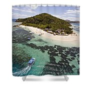 Castaway Island Aerial Shower Curtain