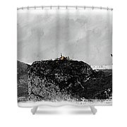 Castellane, France On The Route Napoleon Shower Curtain