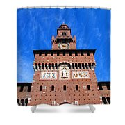 Castello Sforzesco Tower Shower Curtain