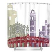 Castellon Skyline Poster Shower Curtain