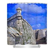 Castillo El Morro Havana Cuba  Shower Curtain