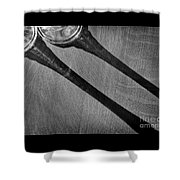 Casting Shadows Black And White Shower Curtain