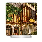 Castle - Castle IIi Shower Curtain by Mike Savad