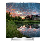 Castle And Pond Shower Curtain
