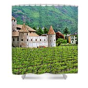 Castle And Vineyard In Italy Shower Curtain
