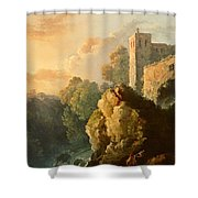 Castle And Waterfall Shower Curtain
