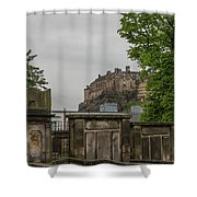 Castle Behind Cemetery Shower Curtain