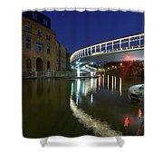 Castle Bridge A By Night Bristol England Shower Curtain