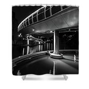 Castle Bridge B By Night Bristol England Shower Curtain