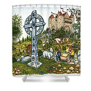Castle Cross Shower Curtain