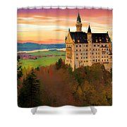 Castle Dawn Shower Curtain