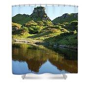 Castle Ewan With Reflection Shower Curtain