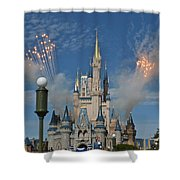 Castle Fireworks Shower Curtain